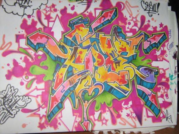 Graffiti Art Sketches With Color 3 Full Color Sketch Graffiti