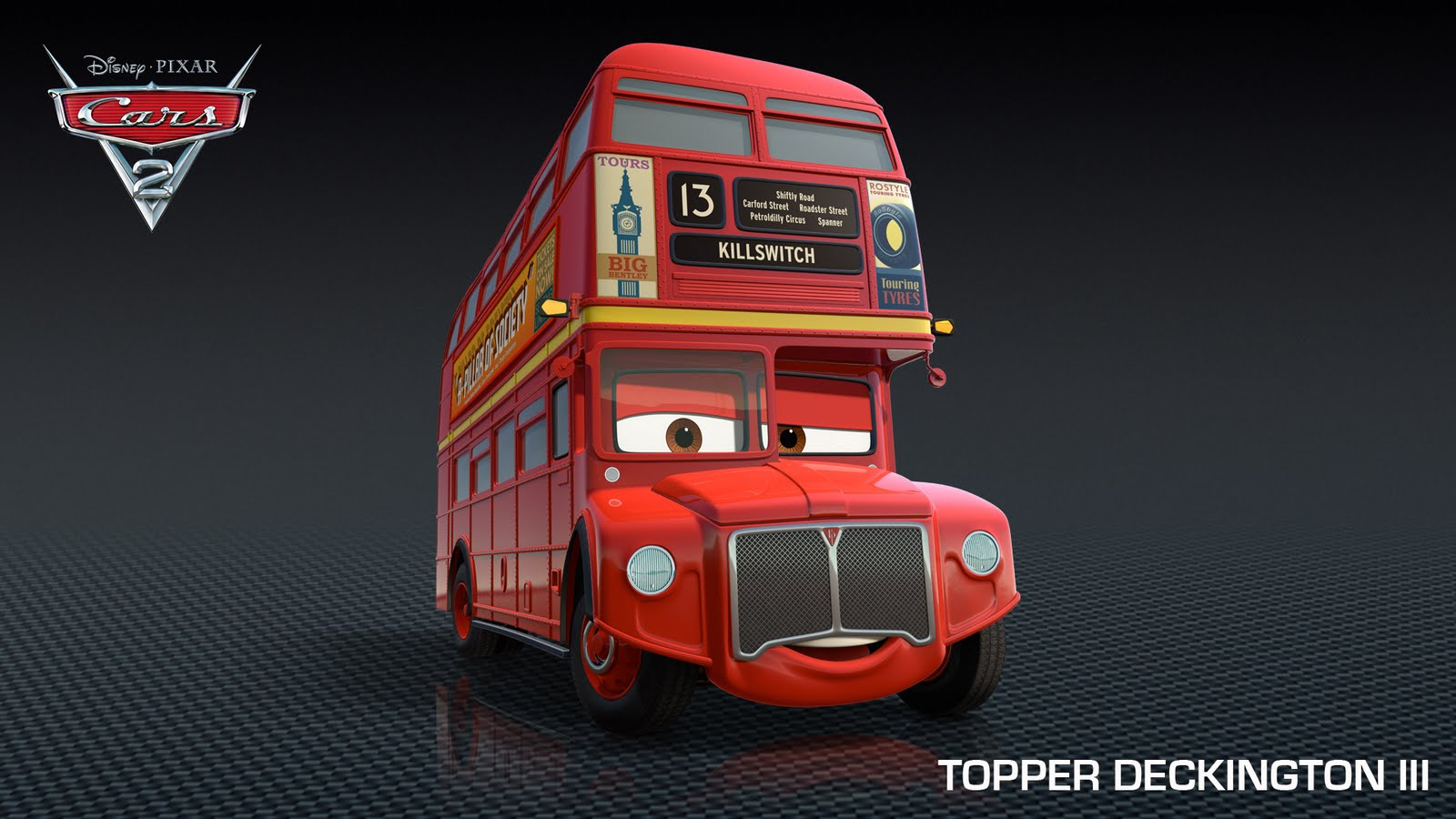access pixar new cars 2 characters the british lineup. Black Bedroom Furniture Sets. Home Design Ideas