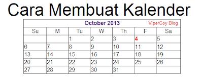 Cara Membuat Kalender Blog