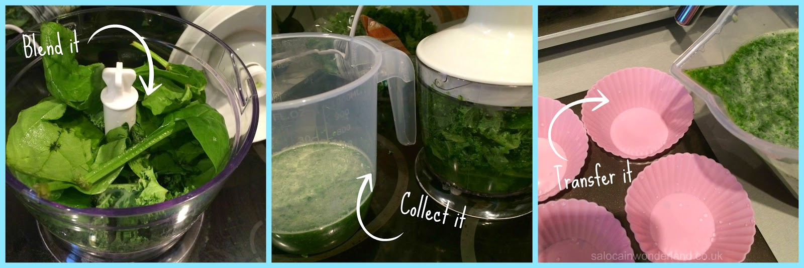 freezing spinach and kale