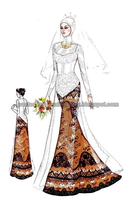 Desain Kebaya Muslimah Kombinasi Batik | Annie Gallery|Busana Wanita ...