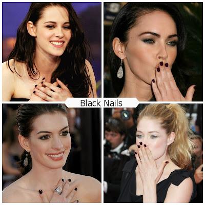 como pintarse las uñas de negro