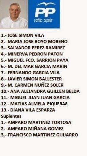 CANDIDATURA POPULAR - ELECCIONES MUNICIPALES ENGUERA 2015