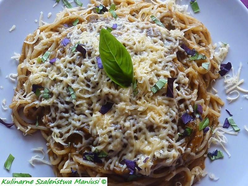 Spaghetti z sosem z cukinii :-)