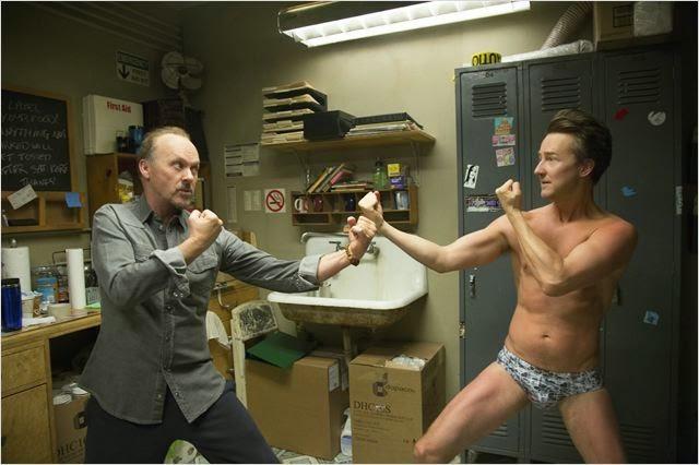 Keaton y Edward Norton en Birdman