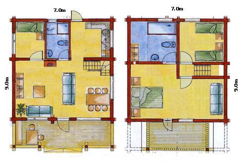 Planos de casas modelos y dise os de casas planos de - Planos casas dos plantas ...