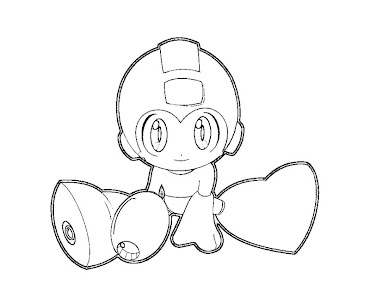 #20 Mega Man Coloring Page