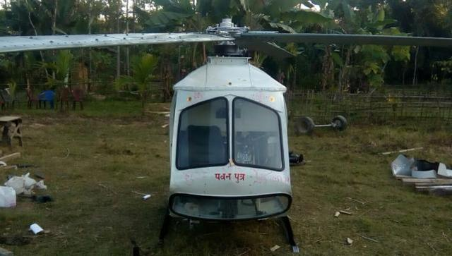 Chandra Sharma's self made helicopter