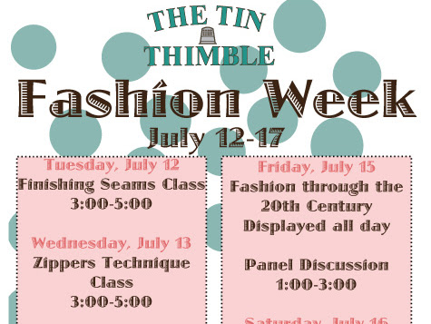 The Tin Thimble's Second Annual Handmade Summer Wardrobe Fashion Show