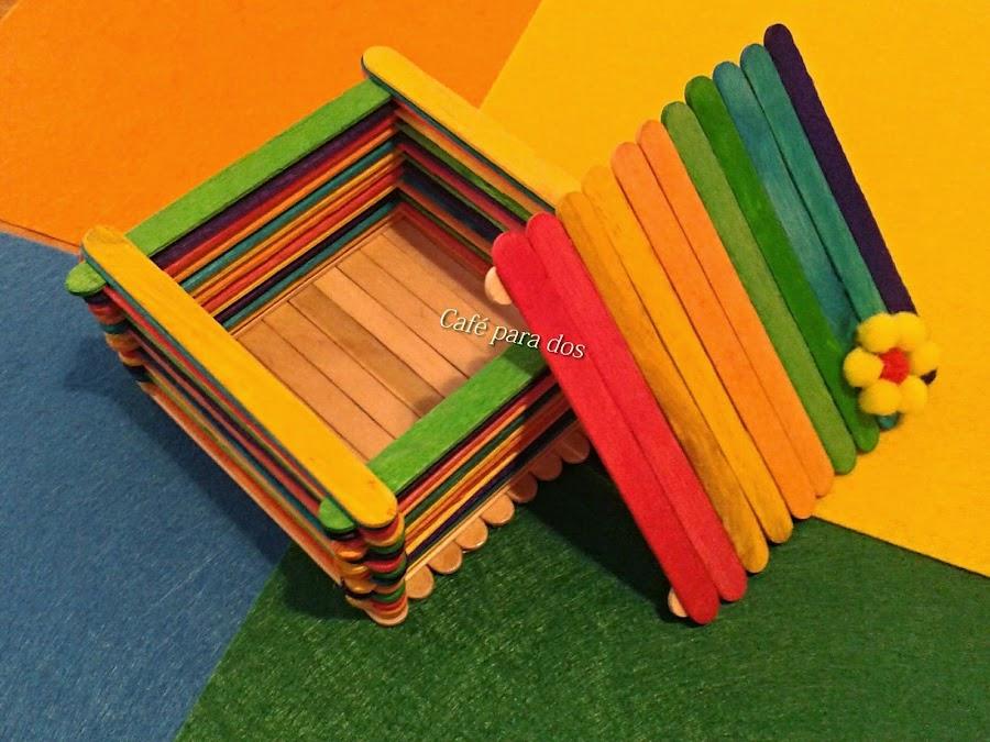 Manualidades con paletas de madera for Paletas madera