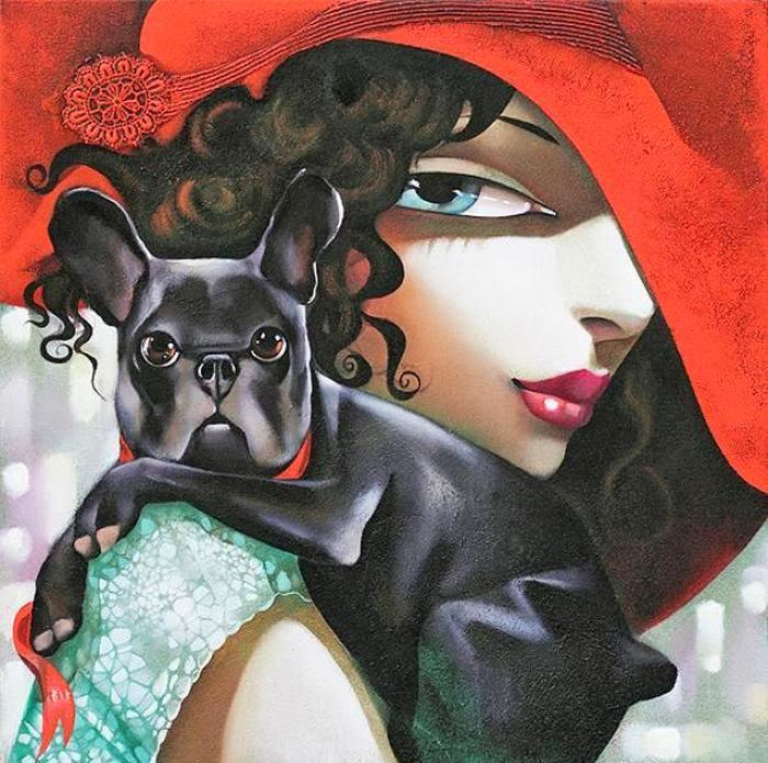 ©IraTsantekidou - La femme fatale. Pintura | Painting