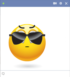 Sunglasses Facebook Emoticon