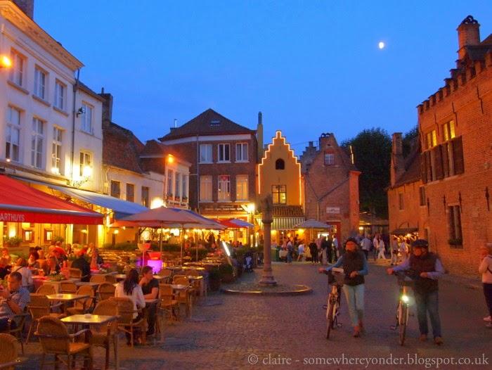 Bruges, Belgium in Autumn - by night
