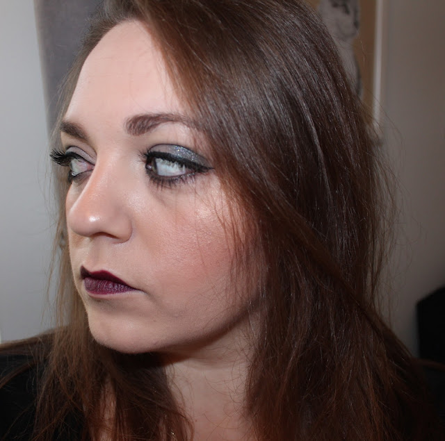 Photo of blogger Vanessa Wilson The Other VW wearing Photo of L'oreal Infallible foundation, clarins instant concealer, charlotte tilbury filmstar bronze & glow, soap and glory peach party, charlotte tilbury glastonberry, Nars Deep throat, Kat Von D Tattoo liner, Lights Camera flashes Tarte