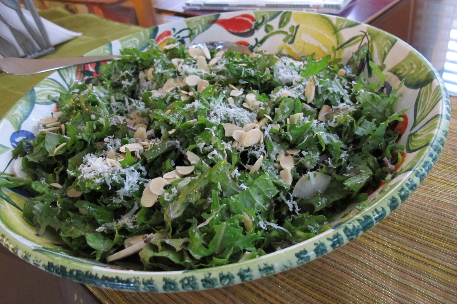 Lemon Zested Kale Salad with Pecorino Cheese