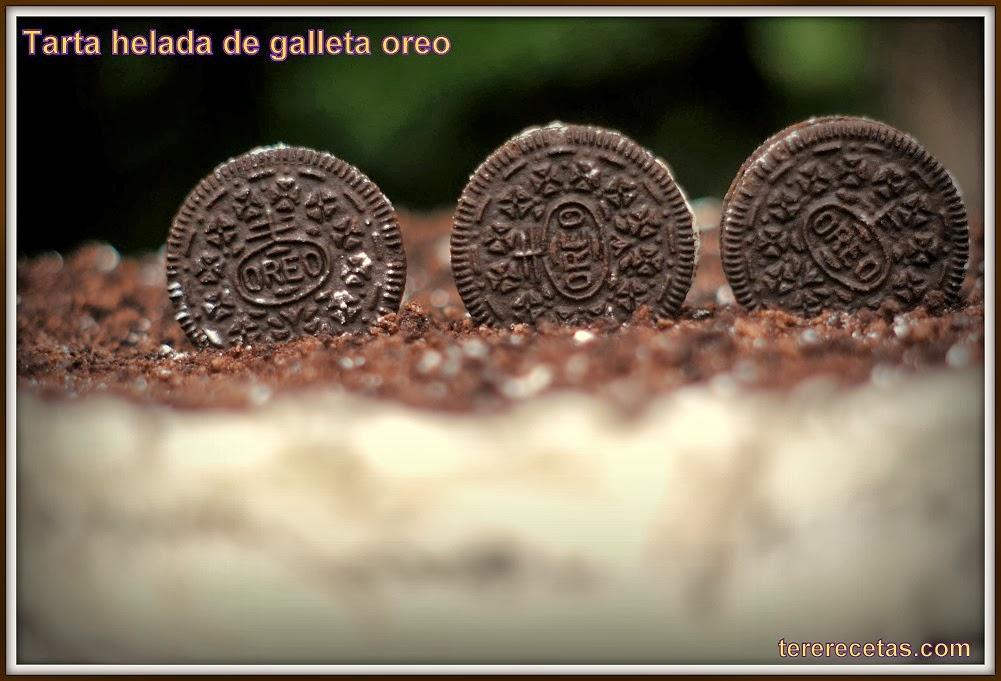 Tarta helada de galletas Oreo.
