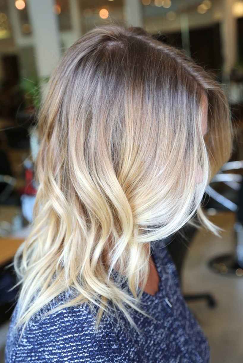 ombre hair, ombre hair style, wavy hear, shoulder length hairstyle, blonde wavy hair, blonde ombre hair