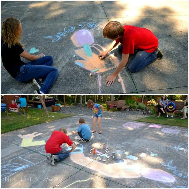 Pop Up Popsicle Party chalk art 2