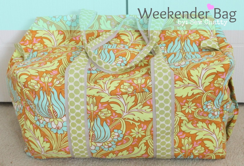 Sew Chatty: {Weekender Bag: Pattern Review}