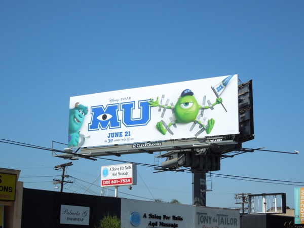 Monsters University movie billboard