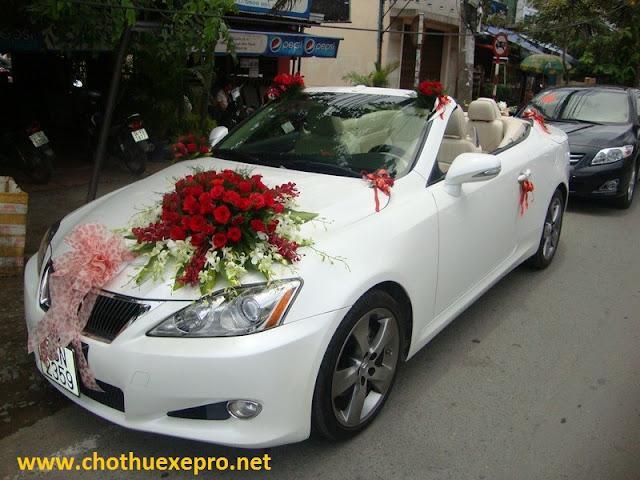 Cho thuê xe cưới Lexus IS250 tại Hà Nội