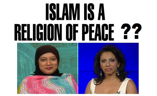 islam is a religion of peace Brigitte Gabriel to Muslim Woman Who claims Majority of Muslims are Portrayed Badly