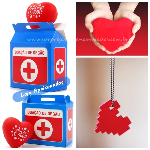 doação de coração para o namorado