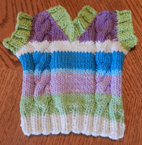 Knitting Patterns For Curling Sweaters : Knit Knot Purl Curl: Sweater Dishcloth