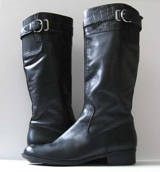 Perfect New BLACK Leather Womens Ladies Cowboy Fashion Riding Boots  SALE
