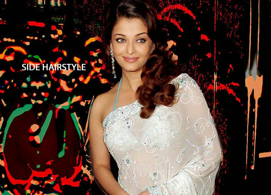 Aishwarya Rai with Side Hairstyle