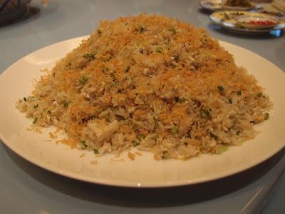 蛋白蟹肉瑶柱炒饭