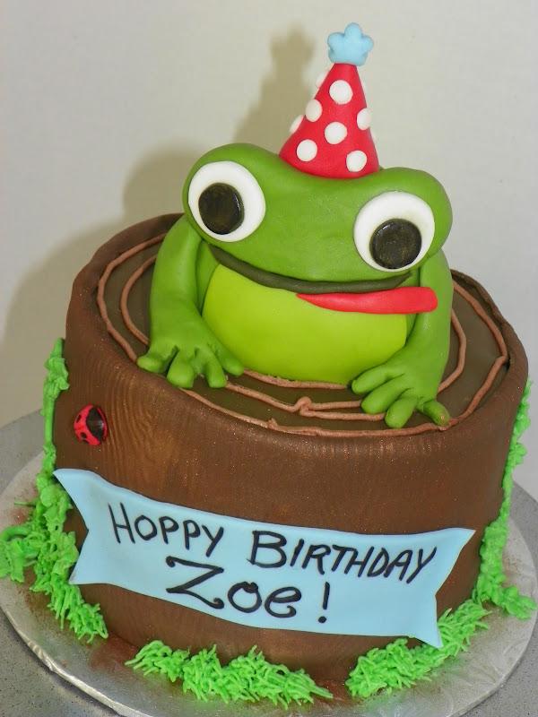 Plumeria Cake Studio Leap Year Birthday Frog Cake And Cookies