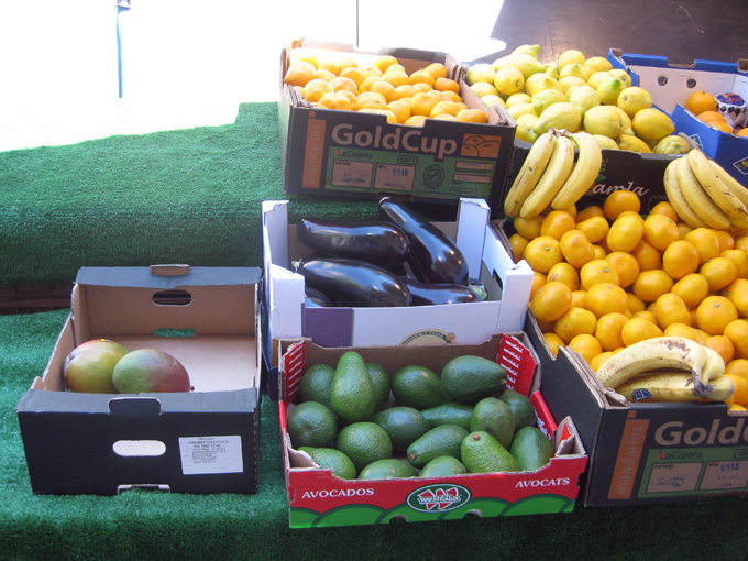 cardboard crates for fruits and vegetables