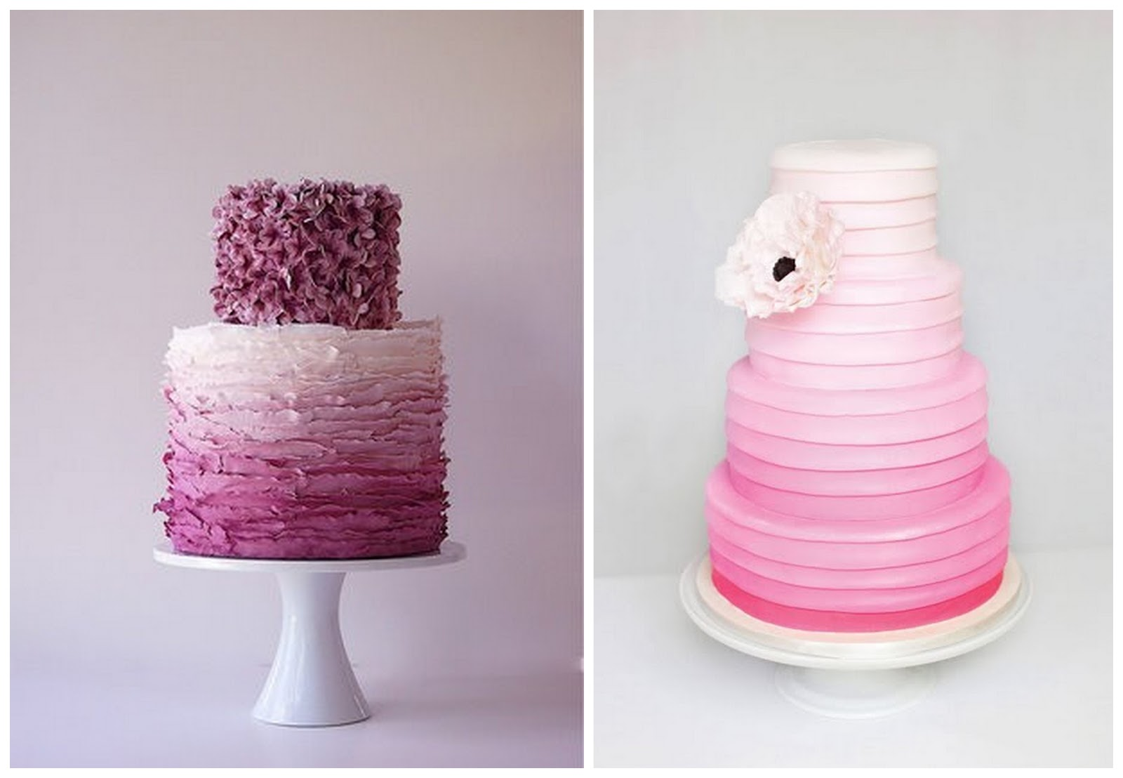Incredible Colourful Ombre Wedding Cakes