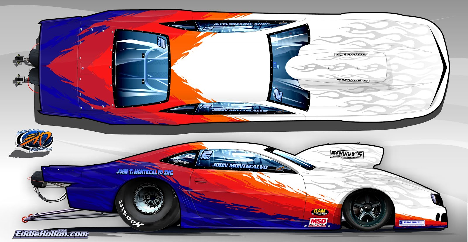 Pro Stock Camaro Race Car Paint Schemes on Chevrolet Engine Scheme