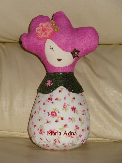 Textile doll Natascha, Textile toy, Fabric doll Natascha, textile female doll Natascha
