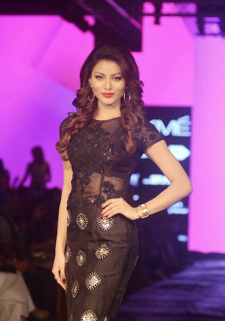 Urvashi Rautela Stills At Lakme Fashion Week 2015