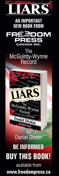 Buy The Book!  LIARS: The McGuinty-Wynne Record