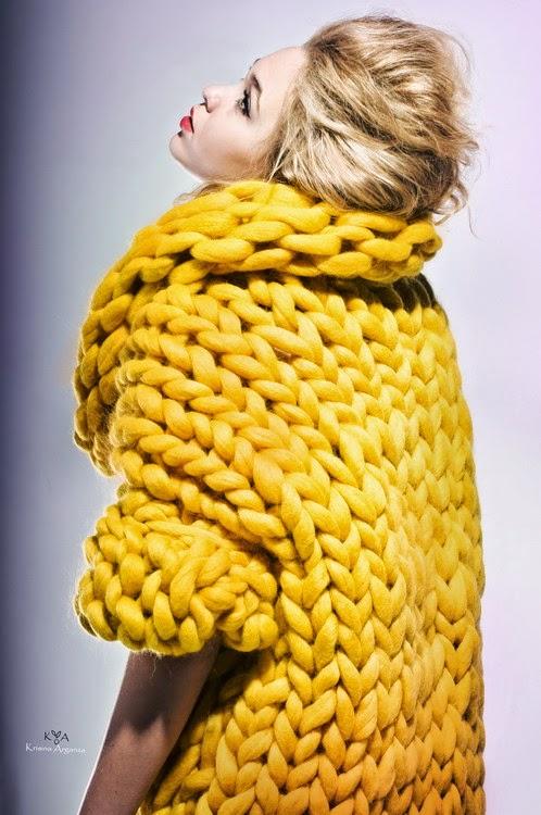 Вязание фото на толстых спицах из толстой пряжи