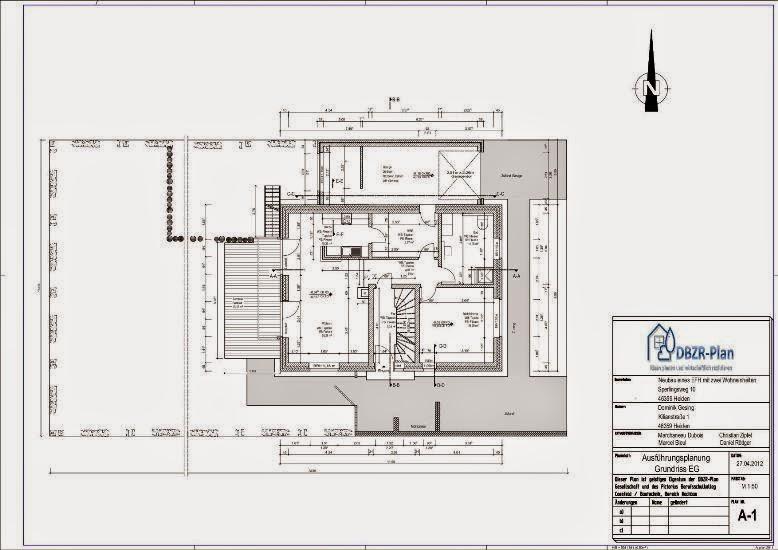 Grundriss Zeichnen Darstellung : Ausführungsplanung Grundriss  Grundriss zeichnen
