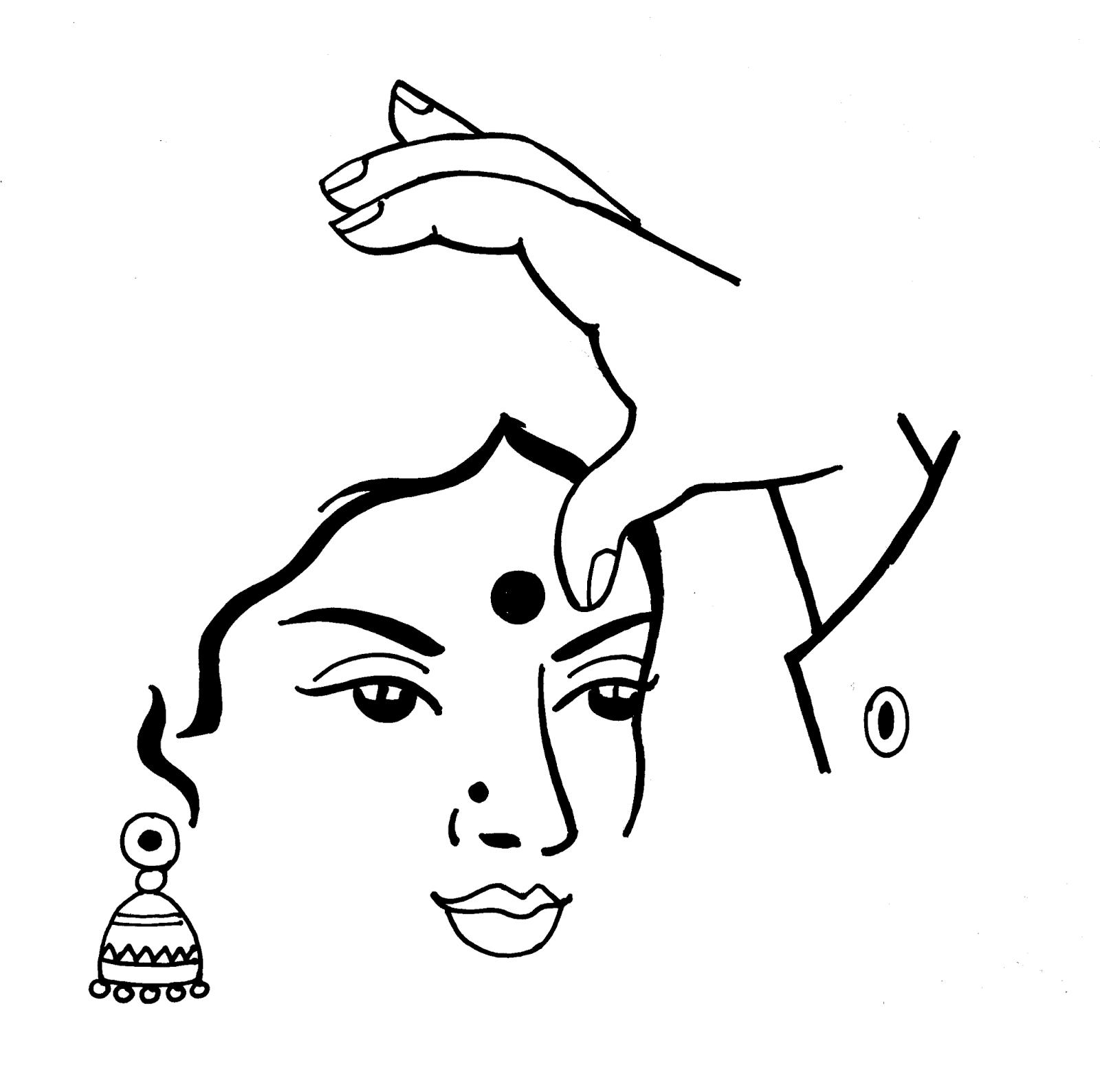 Line Art Wedding : Tamil cliparts printing line art wedding and
