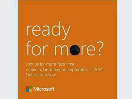 Microsoft akan umumkan ponsel terbarunya di ajang IFA 2014
