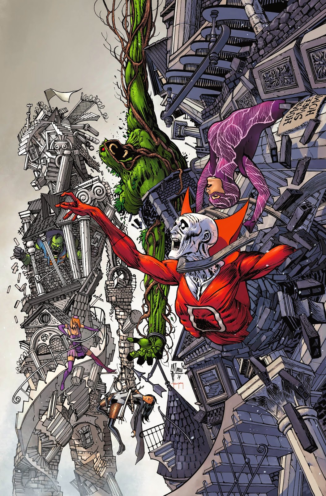 JUSTICE LEAGUE DARK annual cover process by Guillem March