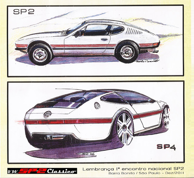 Postal Volkswagen SP2 - Márcio Piancastelli