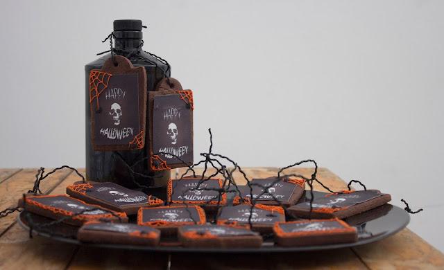galletas etiqueta halloween