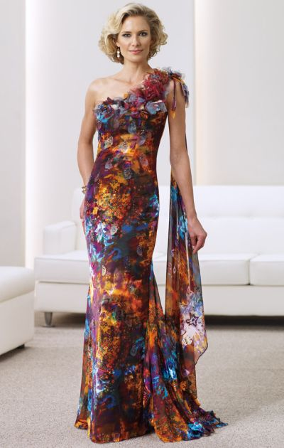 Classical Printed Mother of Bride Dresses