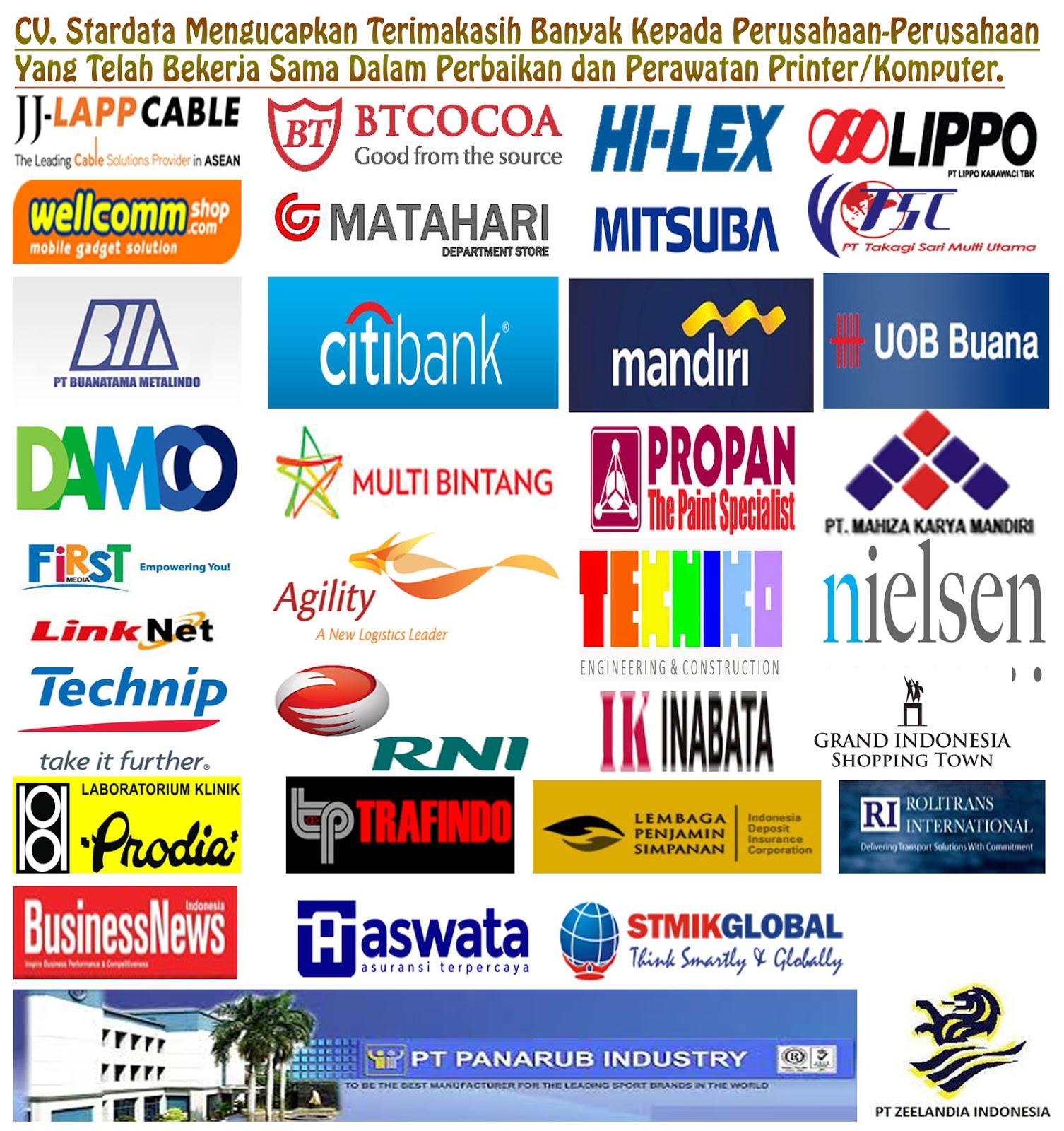 Perusahaan Perusahaan Yang Bekerja Sama Dengan Stardata