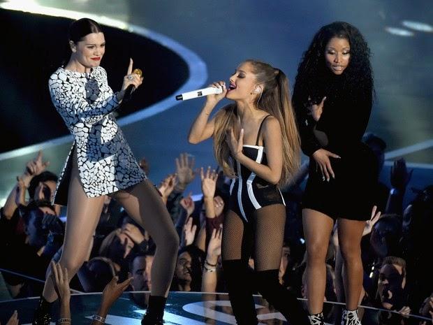 Jessie J, Ariana Grande and Nicki Minaj perform at VMAs