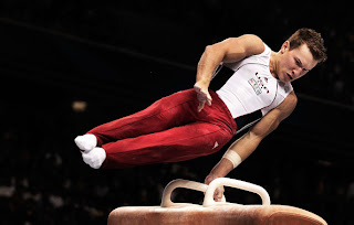 Jonathan Horton of the USA competes on the Pommel Horse aparatus in the Men's qualification during day three of the Artistic Gymnastics World Championships Tokyo 2011 at Tokyo Metropolitan Gymnasium on October 9, 2011 in Tokyo, Japan. (October 8, 2011 - Source: Adam Pretty/Getty Images AsiaPac)
