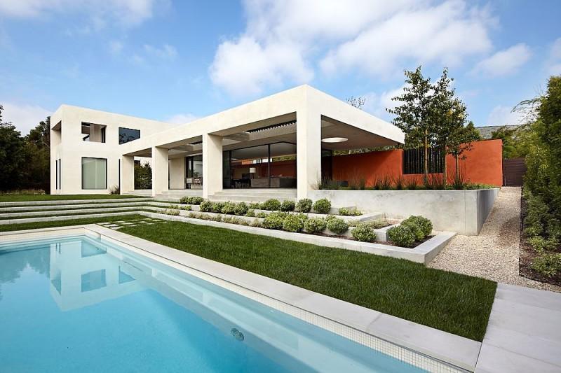 Casa con fachada minimalista todo sobre fachadas for Casa minimalista